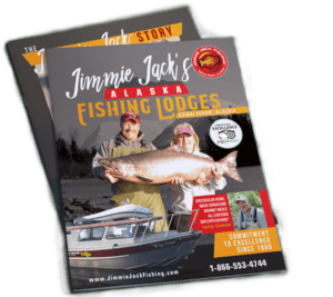 Jimmie Jack's Alaska Fishing Lodges brochure cover.